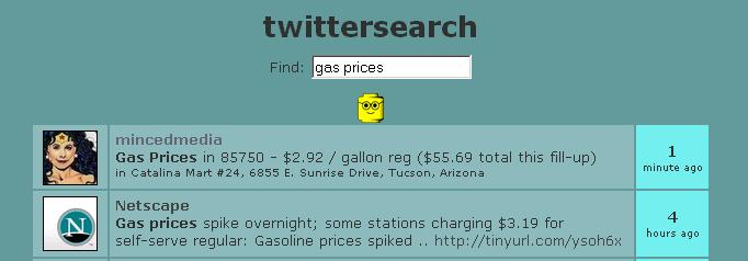 Twitter Meme for Gas Prices